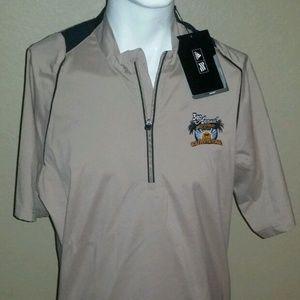 Adidas Wind SS Golf Jacket Shirt SZ L ClimaProof